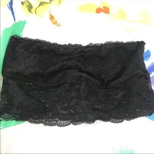 Victorias Secret Pink Black Lace Bandeau size S